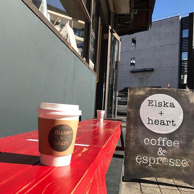 Good Morning!! 今日は天気が良いですね!^ ^そんな時はElskaで#takeout しませんか?本日もお待ちしております!! #elskaheartcoffee #coffee #togo #heartcoffee #takeout - from Instagram