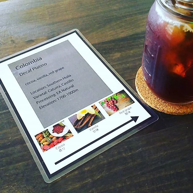 Colombia Decafeプラチノココアバニラぶどう - from Instagram